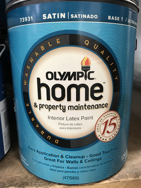 Olympic Paint 1 Gallon - Satin White