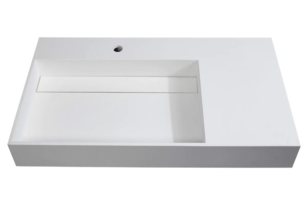 White Wall-Mount Sink