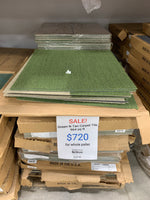 Green N Tan Carpet Tile Lot - 964 sq ft