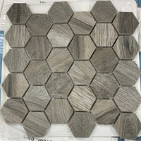 Shadow Wood Hexagon Mosaic Tile - 8.3 sq ft