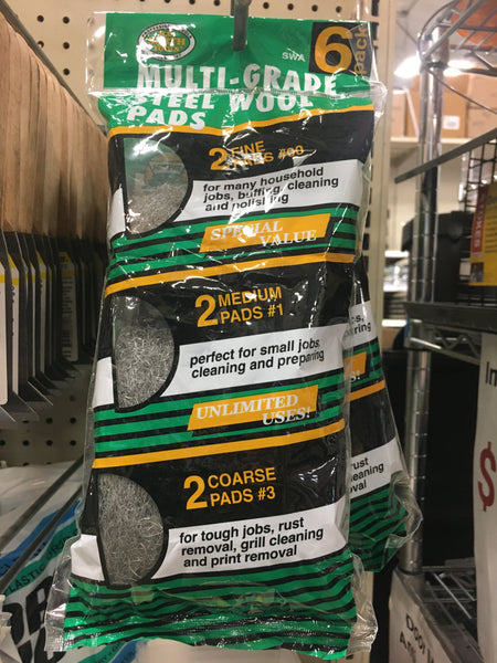 Steel Wool - Assorted 6pk