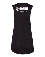 Load image into Gallery viewer, NAMI: FUTURE IS STIGMA FREE - WOMENS BLACK MUSCLE TANK
