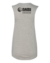 Load image into Gallery viewer, NAMI: FUTURE IS STIGMA FREE - GREY WOMENS MUSCLE TANK