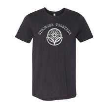 Load image into Gallery viewer, LifeCYCLE - STRONGER TOGETHER TEE - Black Heather Triblend