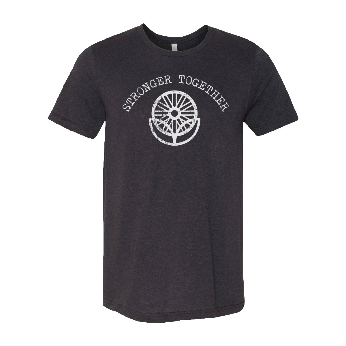 LifeCYCLE - STRONGER TOGETHER TEE - Black Heather Triblend