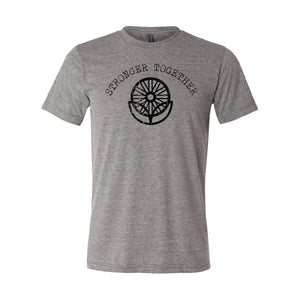 LifeCYCLE - STRONGER TOGETHER TEE - Grey Triblend