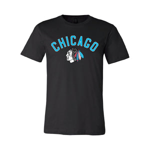 BLACKHAWKS LOGO TEE - BLACK