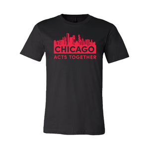 CHICAGO ACTS TOGETHER - SKYLINE RELAXED TEE - SL