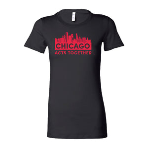CHICAGO ACTS TOGETHER - SKYLINE FITTED TEE