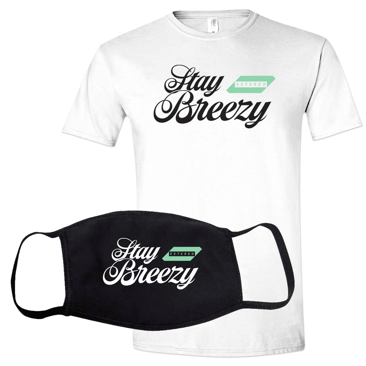 ESTEREO - STAY BREEZY TEE & MASK PACK