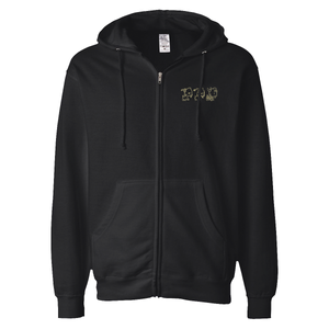 3 GOAT EMBROIDERED ZIP HOODIE