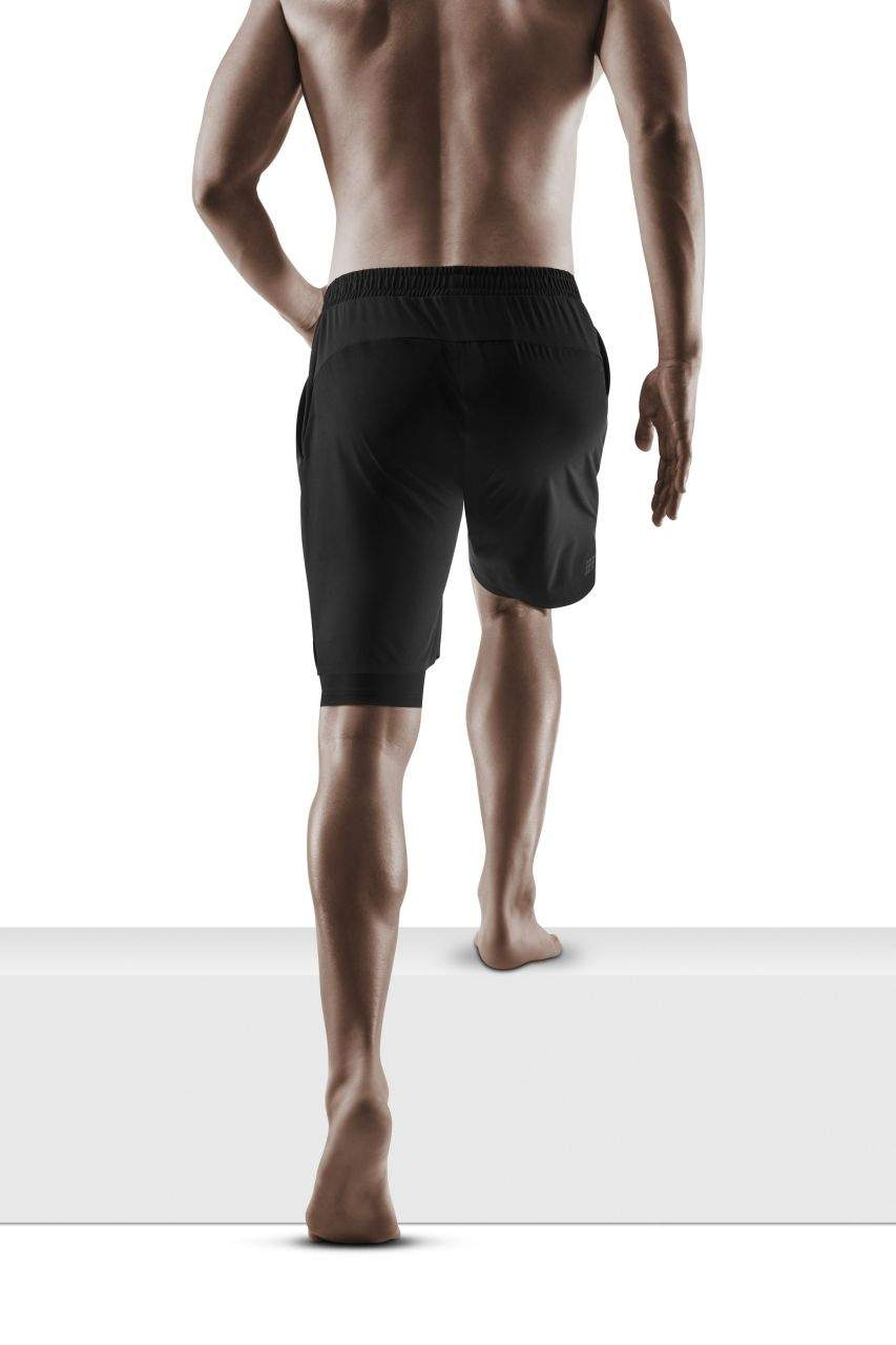 CEP training 2in 1 shorts men, black