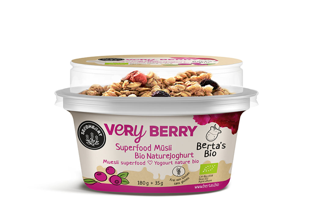 Berta's Bio Superfood Müsli Very Berry 180g + 35g
