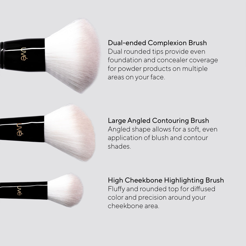 UVé Essentials Makeup Brush Set (5)