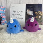 Plushies & Co ™ Purple & Blue Reversible Narwhal Plush
