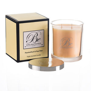 STANDARD TRIPLE SCENTED CANDLE PASSIONFRUIT & PAW PAW