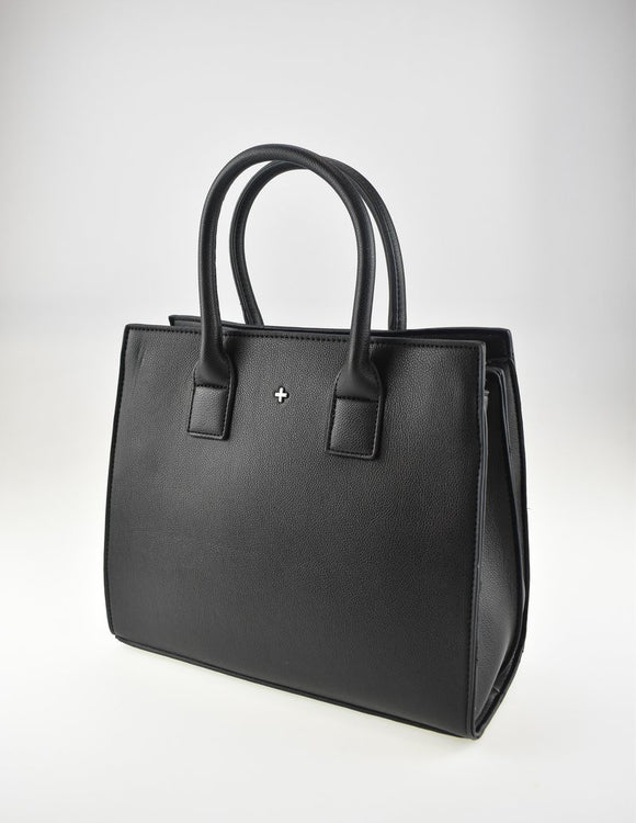 VALENTINE - BLACK PEBBLE TOTE