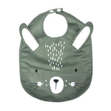 WIPEABLE SAGE BUNNY FEEDING BIB