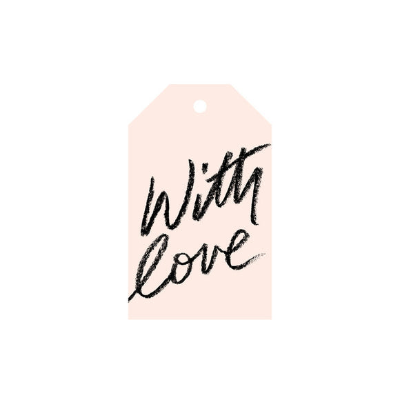 With love - Blush Gift Tag