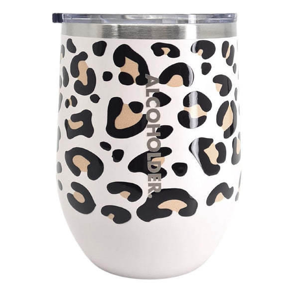 STEMLESS VACUUM INSULATED WINE TUMBLER 355ML (12OZ) - PRINT SERIES 2 COLOURS AVAILABLE