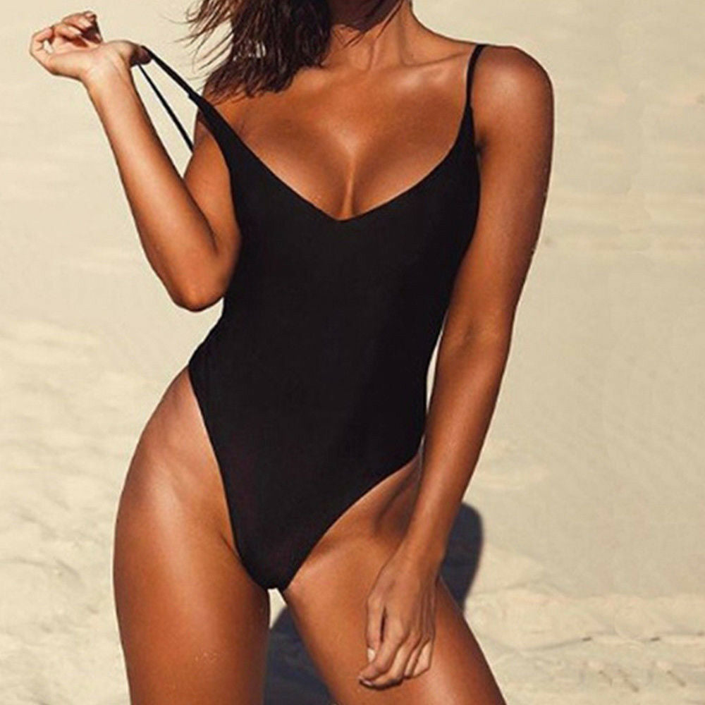Women's Bandeau Bikini Push-up Bra Swimsuit Bathing Monokini High Waist Swimwear