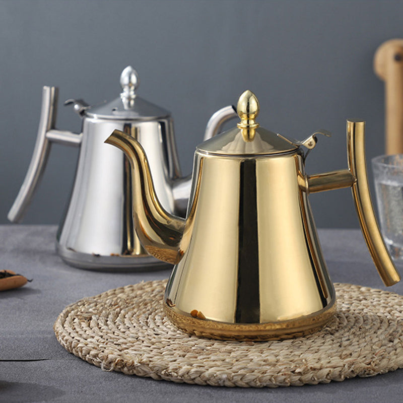 Gold Teapot with Infuser