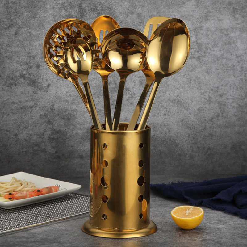 Gold Cookware Kitchen