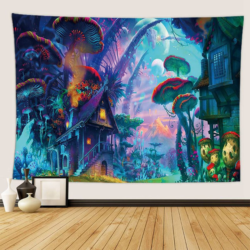 Psychedelic Wonderland Tapestry