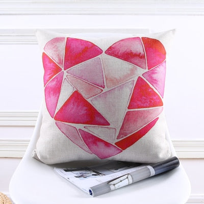 Decorative throw pillow case cover