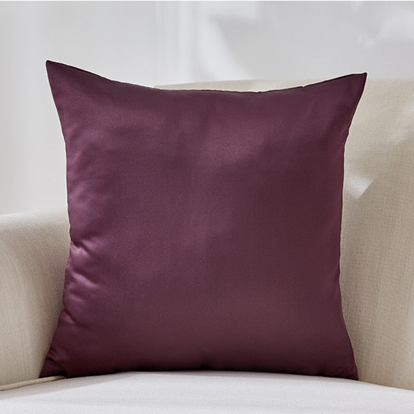 Silk Throw Pillow Cover