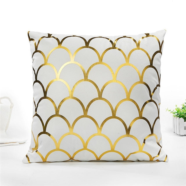 Gold Throw Pillow Cover