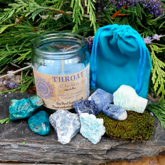 Throat Chakra Healing Crystals Set