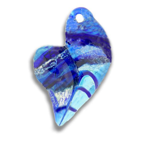Glass Heart Cremation Pendant