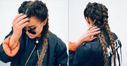 Double Dutch Braid Hair Tutorial Leyla Milani Hair