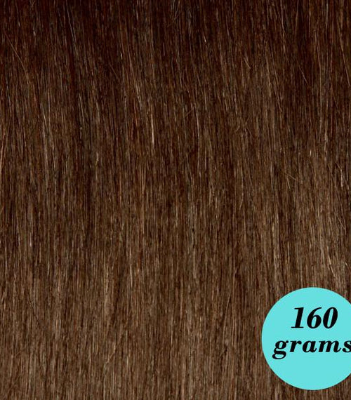 "#4 Milk Chocolate 20"" Clip In Hair Extensions"