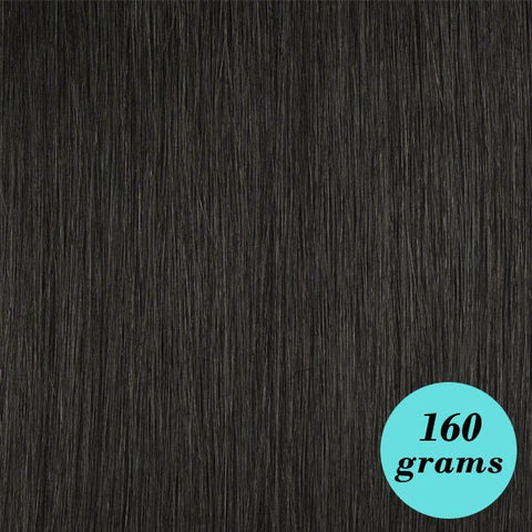 "#1 Jet Black 20"" Clip In Hair Extensions"