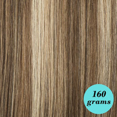 "#60/6/4 Dark Blondish Brown 20"" clip-in extensions [Highlight Edition]"