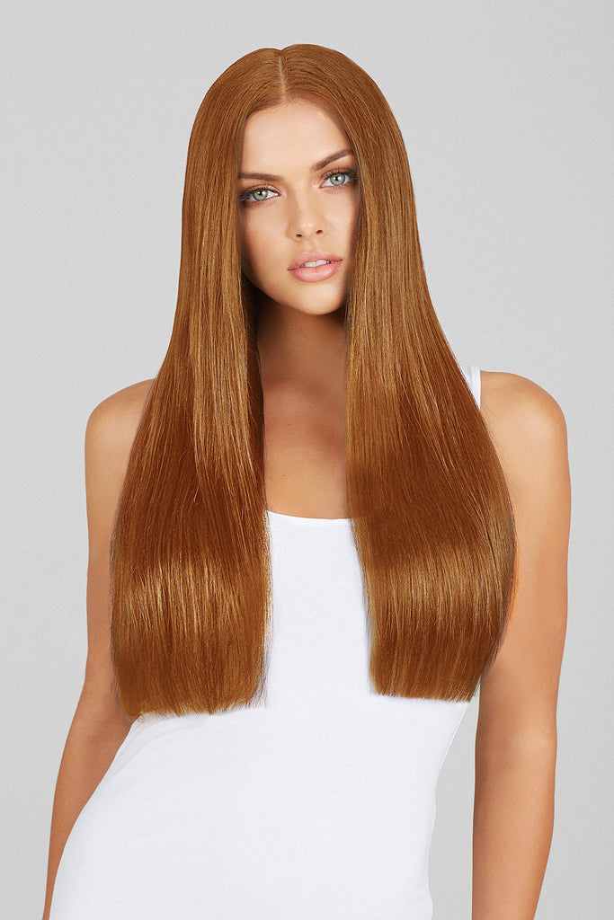 Light Auburn 20in Clip In Hair Extensions Leyla Milani Hair