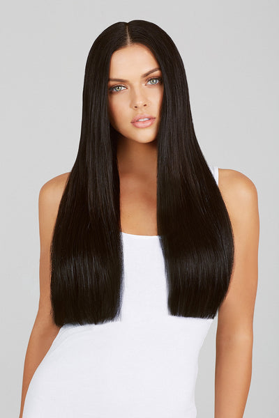 "#1B Natural Black 20"" Clip In Hair Extensions"