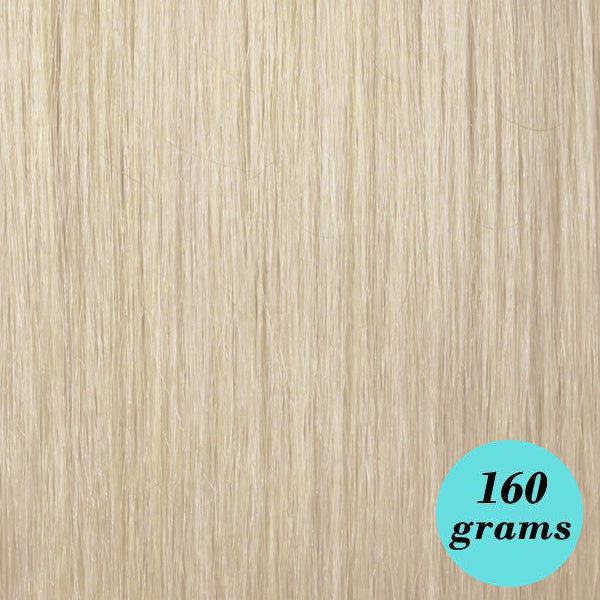 "#613 Ice Blonde 20"" Clip In Hair Extensions"