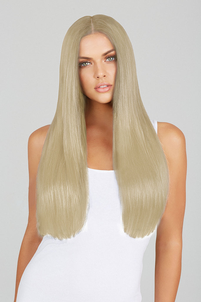 Ice Blonde 20 Inch Clip In Hair Extensions Leyla Milani Hair