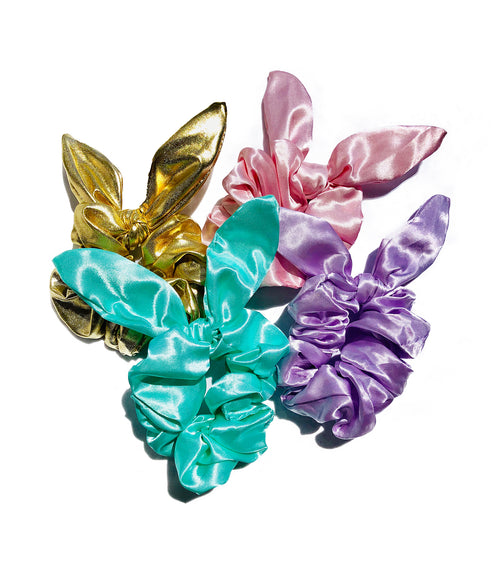 Sassy Bow Scrunchie Set