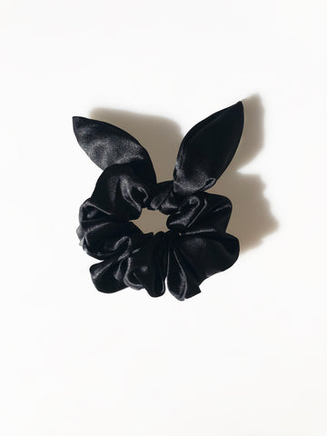 Black Sassy Bow Scrunchie