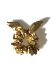 Gold Sassy Bow Scrunchie