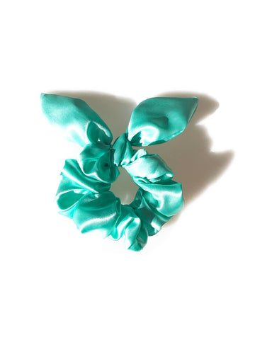 Sassy Bow Scrunchie - Signature Blue