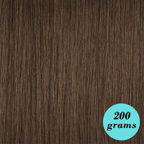 "#4 Milk Chocolate 24"" Clip In Hair Extensions"