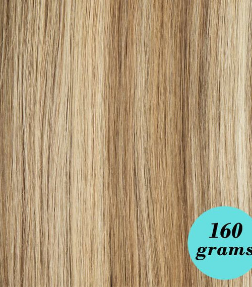 "#6/60/18 Light Blondish Brown 20"" Clip In Extensions  [Highlight Edition]"