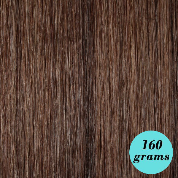 Ash Mixed Brown 20 Inch Clip In Hair Extensions Leyla Milani Hair