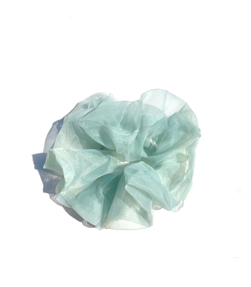 Oversized Fluffy Scrunchie - Dusty Teal