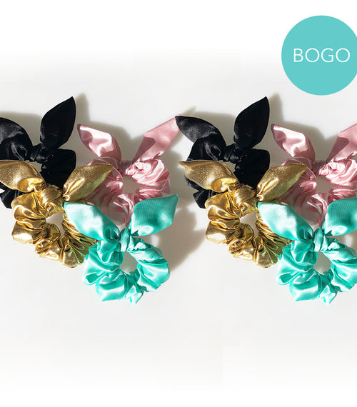 BOGO Sassy Bow Scrunchie Set
